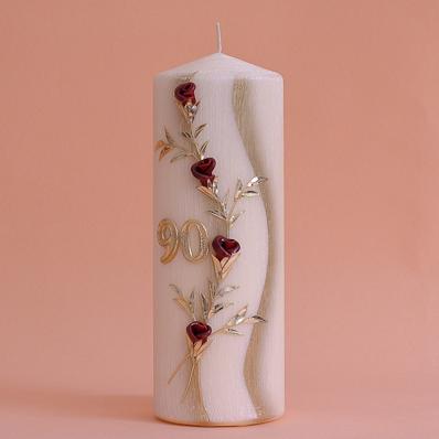Geburtstagskerze Rosen mit Zahl (231)-0