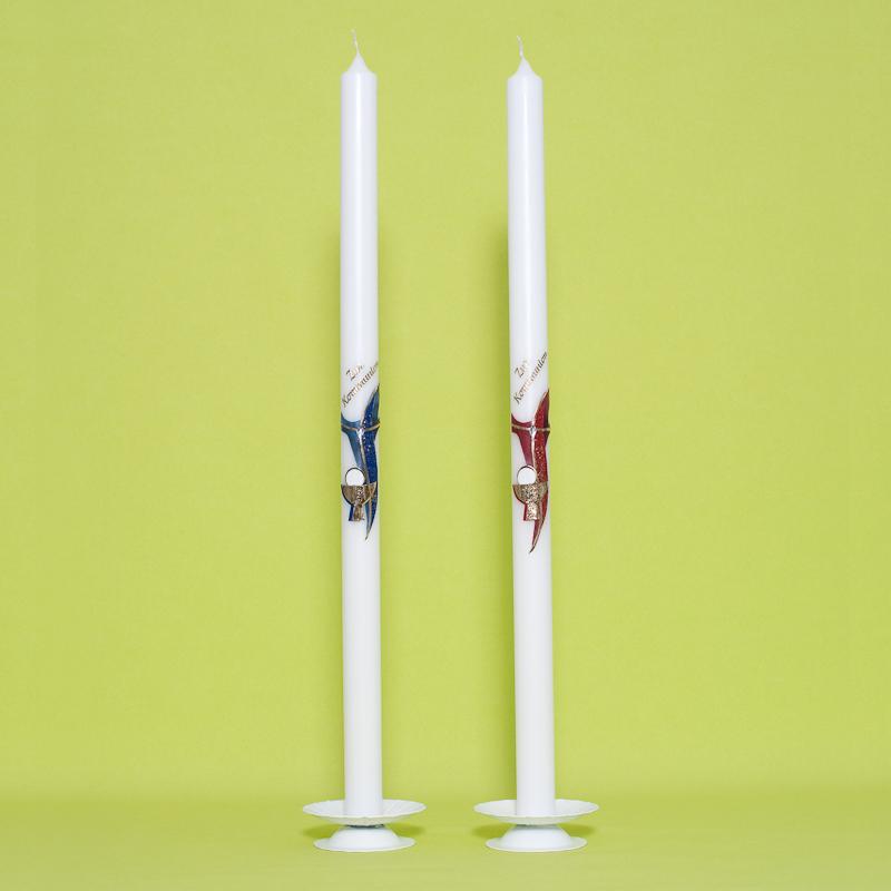 Kommunionkerze Kreuz mit Kelch (23)-0
