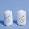 """""""Danke"""" Kerzen Gold oder silber mit Ringen-0"""
