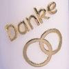 """""""Danke"""" Kerzen Gold oder silber mit Ringen-338"""