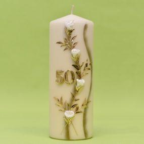 Geburtstagskerze mit Blumenverzierung und Zahl 220/80-0