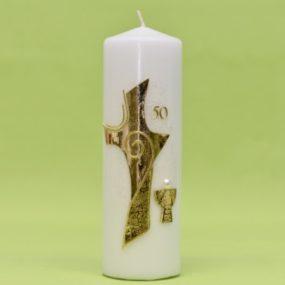 Kerze zur goldenen Kommunion 220/70-0